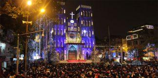 Nhà thờ lớn Hà Nội-Điểm chơi lý tưởng đêm noel tại Hà Nội