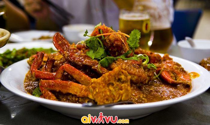 Món cua sốt ớt Chili crab