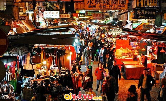 Tấp nập chợ đêm Hongkong