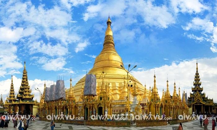 Chùa vàng Swedagon biểu tượng độc đáo của Myanmar
