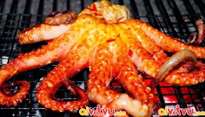 Hải sản nướng món ngon cho ngày lạnh của Đà Nẵng