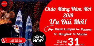 Mừng năm mới 2018, Air Asia KM vé chỉ từ 31 USD