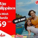 Air Aisa khuyến mãi vé đi Philippines chỉ từ 69 USD