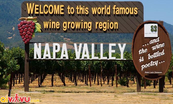 Đặt chân đến Napa Valley