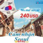 Từ 240 USD bay ngay Seou từ Việt Nam