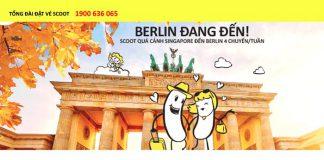 Scoot mở bán vé máy bay đi Berlin giá rẻ