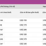 Giá vé khuyến mãi khởi hành từ Hà Nội