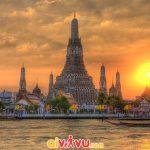 Khung cảnh xao xuyến ở chùa Wat Arun