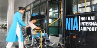Hỗ trợ xe lăQuy định về hành khách người khuyết tật của hãng hàng không Vietnam Airliesn cho người khuyết tật vận động