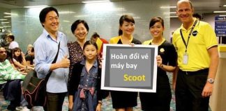 Cách thức hoàn đổi vé máy bay Scoot