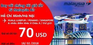 Malaysia Airlines mở bán vé rẻ chỉ từ 70 USD