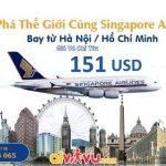Singapore Airlines mở bán vé khứ hồi từ 151 USD