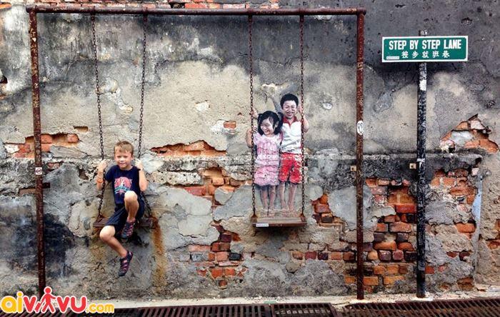 Chụp hình ở Penang