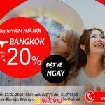Đặt vé Air Asia đi Thái Lan tiết kiệm đến 20%