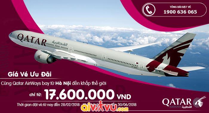 Qatar mở bán vé khứ hồi khởi hành từ Hà Nội