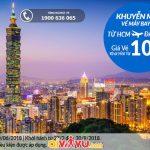Vietnam Airlines mở bán vé khứ hồi đi Đài Bắc giá rẻ