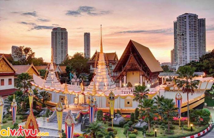 Chùa Wat Yannawa - Một trong những ngôi chàu nổi tiếng tại Thái Lan