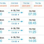 Giá vé Hồ Chí Minh đi Hà Nội