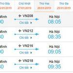 Giá vé Hồ Chí Minh đi Hà Nội của Vietnam Airlines