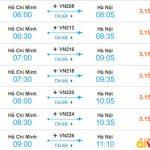 Tham khảo giá vé từ Hồ Chí Minh đi Hà Nội