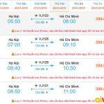 Tham khảo giá vé từ Hà Nội đi Hồ Chí Minh