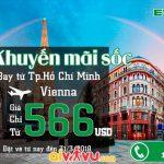 Vé từ Hồ Chí Minh đi Áo chỉ từ 566 USD