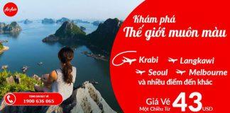 Air Asia khuyến mãi vé rẻ chỉ từ 43 USD/chiều năm 2018