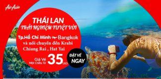 Vé máy bay đi Thái Lan chỉ từ 35 USD/chiều