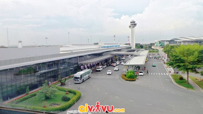 Sân bay có 2 đường băng song song nhau