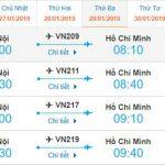 Giá vé Hà Nội Hồ Chí Minh của Vietnam Airlines