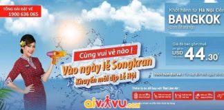 Thai Lion Air khuyến mãi giá vé chỉ còn 44.30 USD