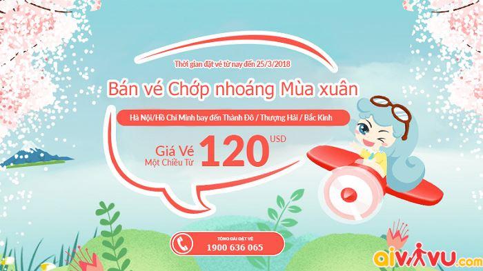 China Southern Air khuyến mãi giá vé chỉ từ 120 USD