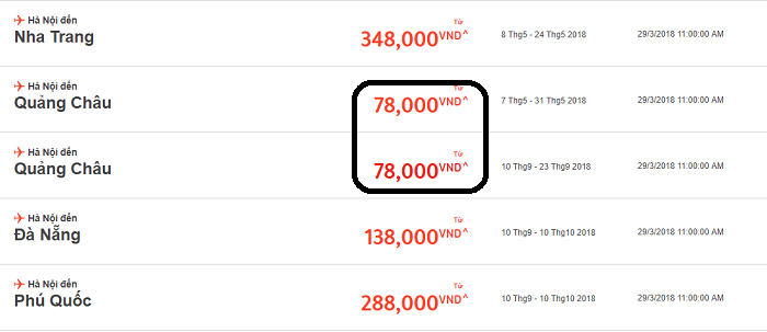 Jetstar khuyến mãi vé bay chỉ từ 78.000đ