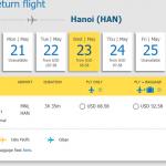 Chiều về từ Manila đi Hà Nội
