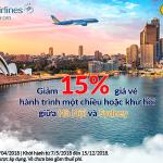 Đặt vé máy bay đi Sydney khuyến mại, Vietnam Airlines