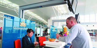 Thời gian làm thủ tục cho các chuyến bay nội địa và quốc tế hãng hàng không Vietnam Airlines, Vietjet Air, Jetstar