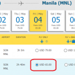 Vé Hồ Chí Minh đi Manila giá rẻ