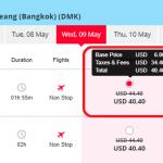 Mẫu giá vé đi Bangkok khuyến mại - Thai Lion Air