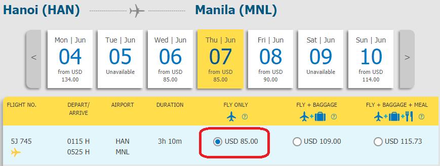 Vé Hà Nội  đi Manila giá rẻ