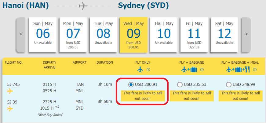 Vé Hà Nội đi Sydney giá rẻ