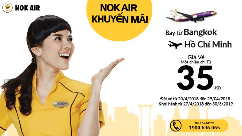 Vé Nok Air khuyến mại từ 35 USD/chiều