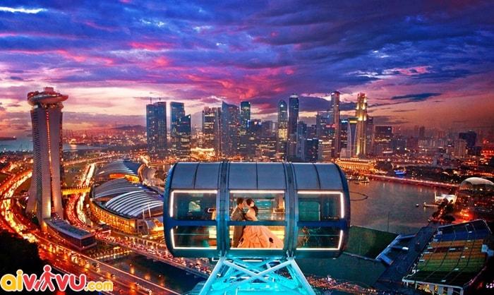 Trải nghiệm ngắm cảnh đêm lãng mạn ở Singapore
