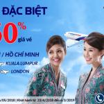Chương trình khuyến mại từ hãng Malaysia Airlines