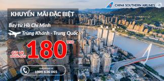 Mua vé máy bay đi Trùng Khánh giá rẻ