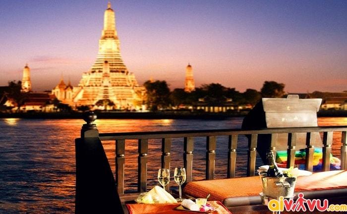 Trải nghiệm du thuyền trên dòng sông Chao Phraya Thái Lan