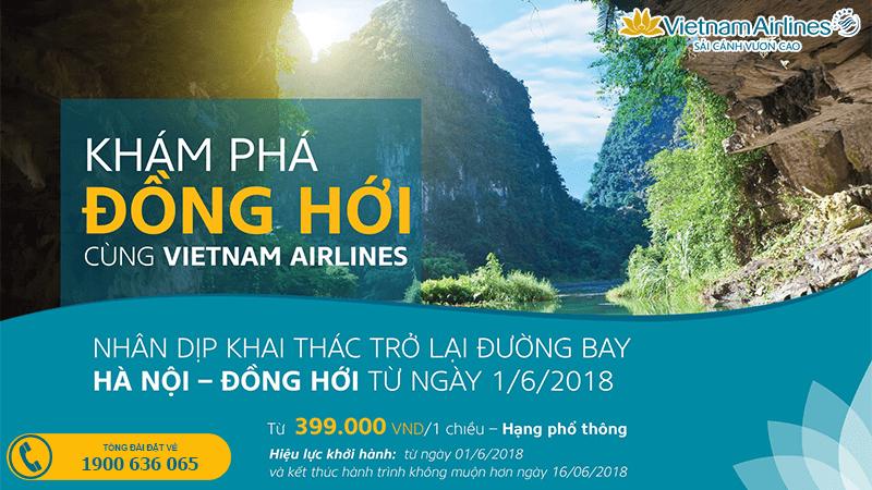 Vé máy bay Hà Nội đi Đồng Hới giá rẻ từ Vietnam Airlines