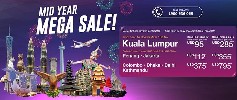 Đặt vé máy bay Malindo Air khuyến mại từ 41 USD