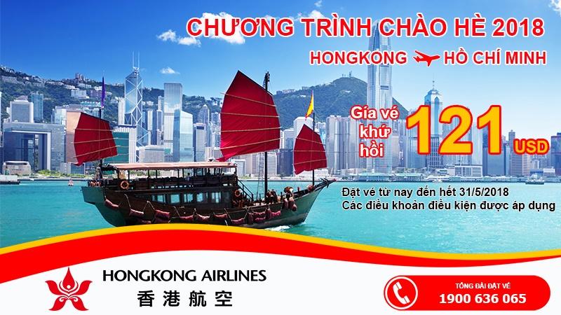 Chương trình khuyến mại hãng Hongkong Airlines 2018