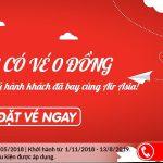 Air Asia mở bán vé 0 đồng siêu tiết kiệm