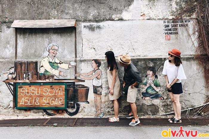 Chiêm ngưỡng nghệ thuật đường phố với những bức tranh 2D, 3D trên tường